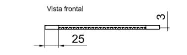 Malla de transporte del portanúcleo, vista frontal