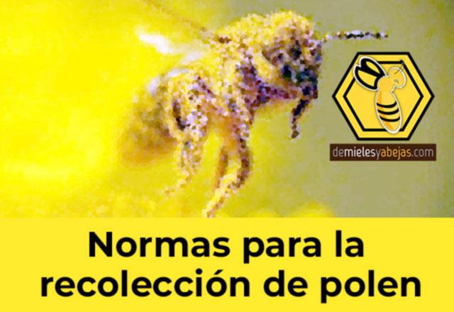 NORMAS para la recolección de polen